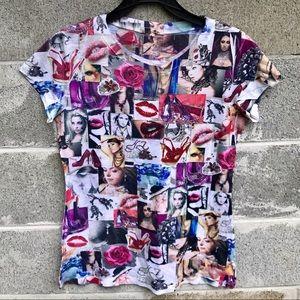 New Mix Womens Fashion Collage w/ Reinstone Sz 1XL